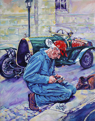 Baseball Cap Painting - Bugatti-angouleme France by Derrick Higgins