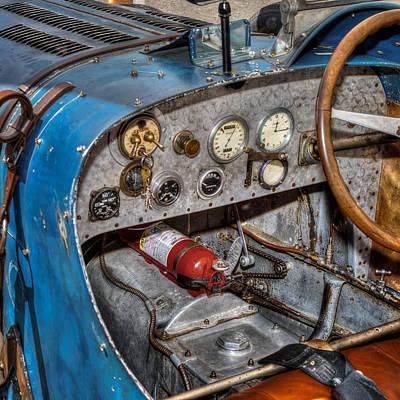 Vintage Cars Photograph - Bugatti Cockpit by Bill Wakeley