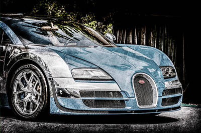 Special Edition Photograph - Bugatti Legend - Veyron Special Edition -0844ac by Jill Reger