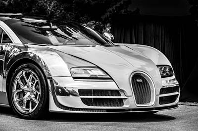 Photograph - Bugatti Legend - Veyron Special Edition -0844bw by Jill Reger
