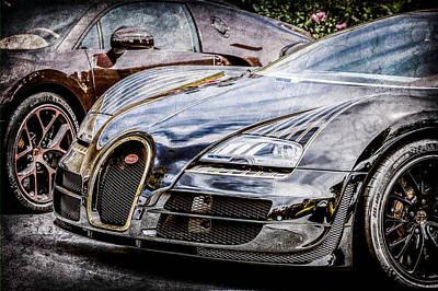 Special Edition Photograph - Bugatti Legend - Veyron Special Edition -0845ac by Jill Reger