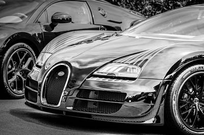 Photograph - Bugatti Legend - Veyron Special Edition -0845bw by Jill Reger
