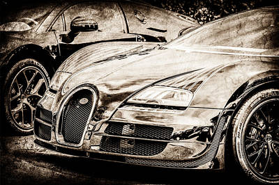 Special Edition Photograph - Bugatti Legend - Veyron Special Edition -0845s by Jill Reger