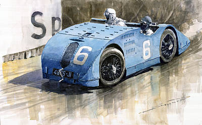 1923 Painting - Bugatti Type 32 Tank 1923 French Gp  by Yuriy  Shevchuk