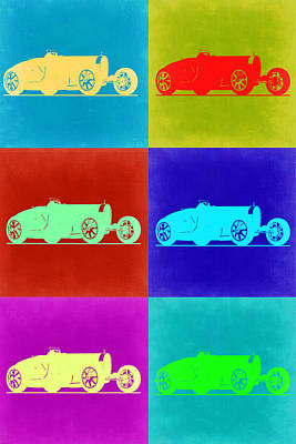 Bugatti Painting - Bugatti Type 35 R Pop Art 2 by Naxart Studio