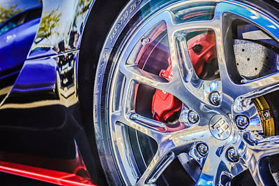 Photograph - Bugatti Veyron Legend Wheel -0532c by Jill Reger