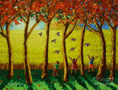 Harvest Painting - Bugaw by Paul Hilario