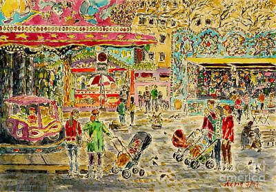 Buggies On Annual Fair Art Print