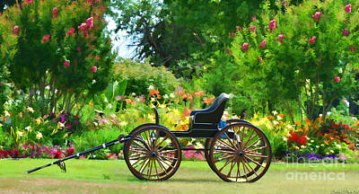 Photograph - Buggy And Flower Garden Digital Paint by Debbie Portwood