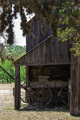 Photograph - Buggy In The Barn by Ed Gleichman