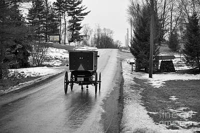 Amish Photograph - Buggy Near Brethern Retreat by David Arment