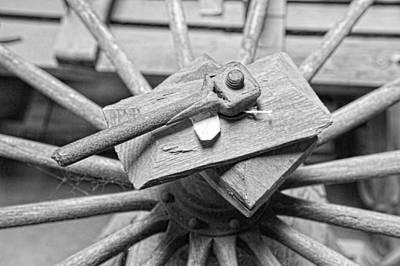 Photograph - Buggy Wheel Repair by Keith Swango