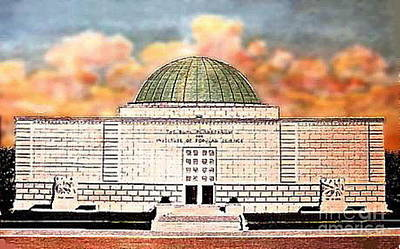 Buhl Planetarium Theatre In Pittsburgh Pa Around 1940 Art Print by Dwight Goss