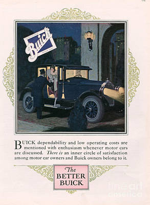 Buick 1926 1920s Usa Cc Cars Art Print by The Advertising Archives