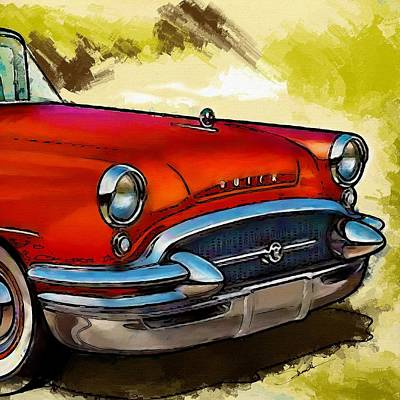 Buick Automobile Art Print by Robert Smith