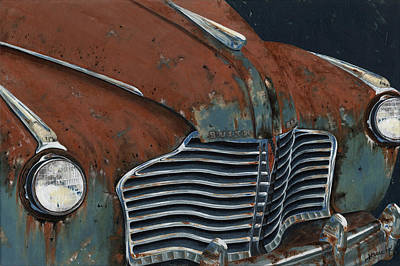 Grill Painting - Buick Electra by John Wyckoff