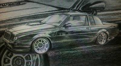 Drawing - Buick Grand National by Frankie Thorpe