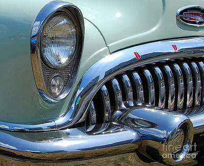 Photograph - Buick Grill Closeup by Mark Spearman