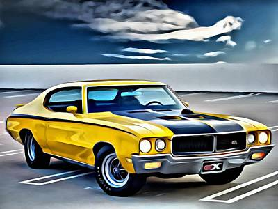 Rod Painting - Buick Gsx 1970 by Florian Rodarte