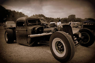 Photograph - Buick Powered Rat Rod Pickup Truck by Tim McCullough