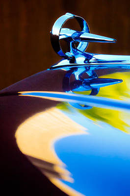 Photograph - Buick Roadmaster Hood Ornament -0625c by Jill Reger