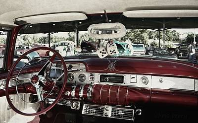 Photograph - Buick Roadmaster Interior by Chris Berry