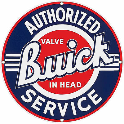Digital Art - Buick Service Sign by Marvin Blaine