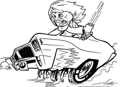 Buick Drawing - Buick Skylarker by Big Mike Roate