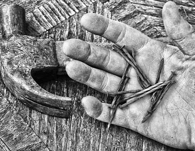 Hand Hammered Photograph - Build Myself  by Jerry Cordeiro