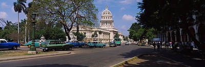 Building Along A Road, Capitolio Art Print by Panoramic Images