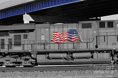 Painting - Building America Union Pacific by Liane Wright