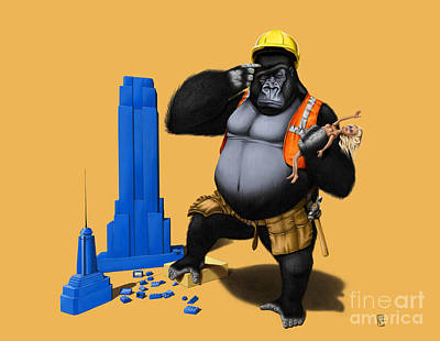 Ape Mixed Media - Building An Empire Colour by Rob Snow