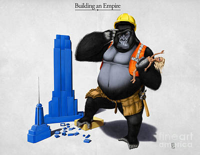 Gorilla Digital Art - Building An Empire by Rob Snow