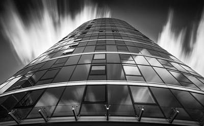Photograph - Building And Clouds by Gary Gillette