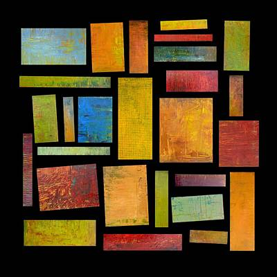 Compilation Painting - Building Blocks Four by Michelle Calkins