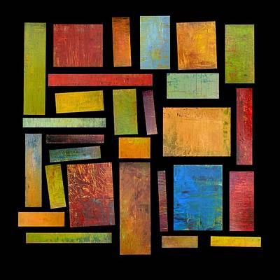 Compilation Painting - Building Blocks Three by Michelle Calkins