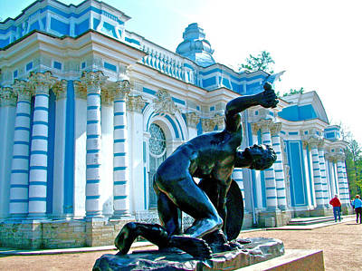 Catherine Palace In Russia Photograph - Building By A Lake In Catherine's Palace Grounds In Pushkin-russia by Ruth Hager