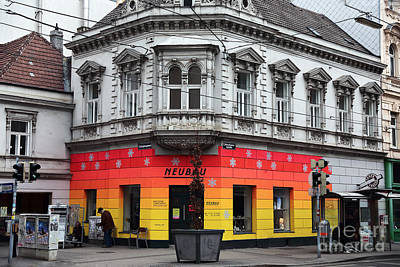 Photograph - Building Colors In Vienna by John Rizzuto