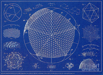 Building Construction Geodesic Dome 1951 Art Print