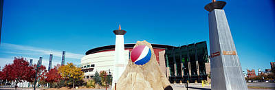 Pepsi Photograph - Building In A City, Pepsi Center by Panoramic Images
