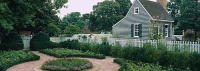 Williamsburg Photograph - Building In A Garden, Williamsburg by Panoramic Images