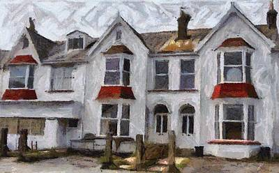 Digital Art - Building In Cornwall England by Carrie OBrien Sibley