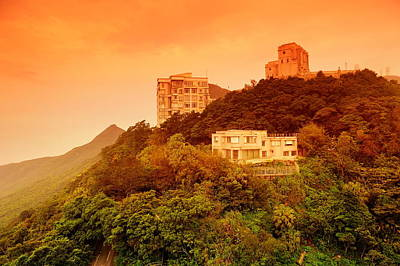 Photograph - Building On Mountain Top In Hong Kong by Songquan Deng
