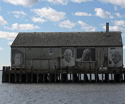 Instillation Photograph - Building On Pier In Provincetown. by Terry Decker