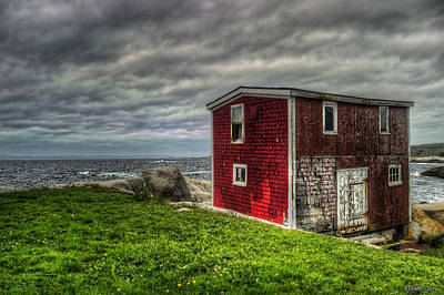 Shed Digital Art - Building On The Sea's Edge by Ken Morris