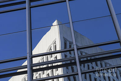 Photograph - Building Reflection by Diane Macdonald