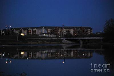 Photograph - Building Reflection In Lake by Mark McReynolds
