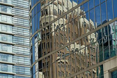 Sutton Photograph - Building Reflection, Vancouver, British by William Sutton