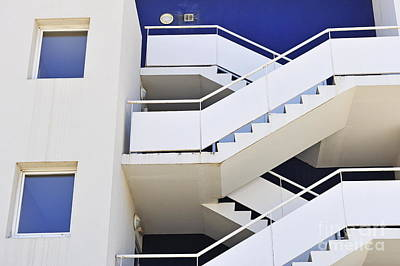 Building Staircase Art Print by Sami Sarkis