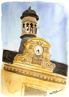 Painting - Building Top Paris by Keshava Shukla